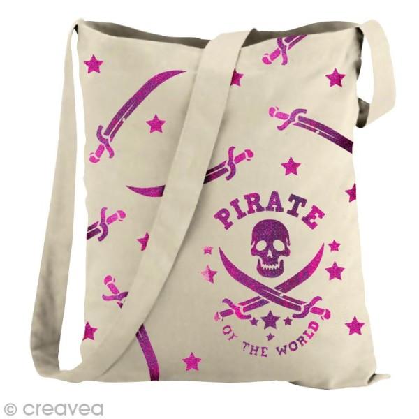 Pochoir textile adhésif My Style Pirate 21 x 14,8 cm - Photo n°2
