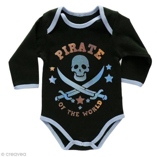 Pochoir textile adhésif My Style Pirate 21 x 14,8 cm - Photo n°4