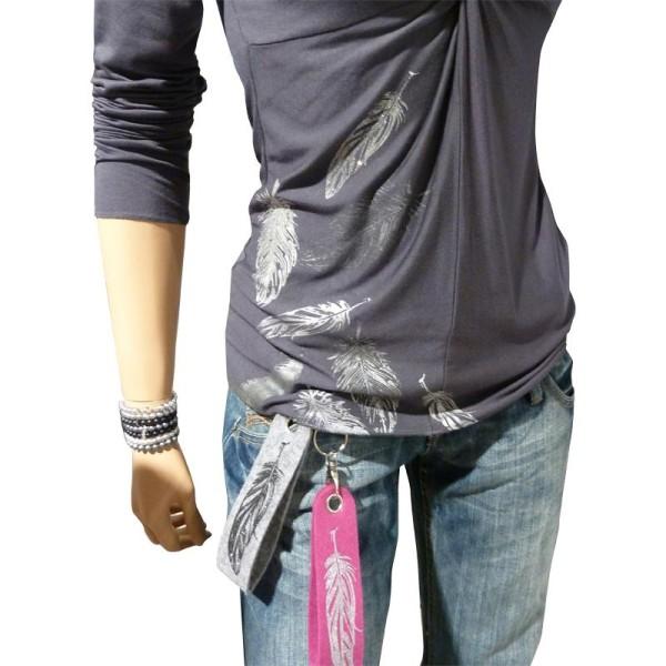 Pochoir textile adhésif My Style Plumes 21 x 14,8 cm - Photo n°3