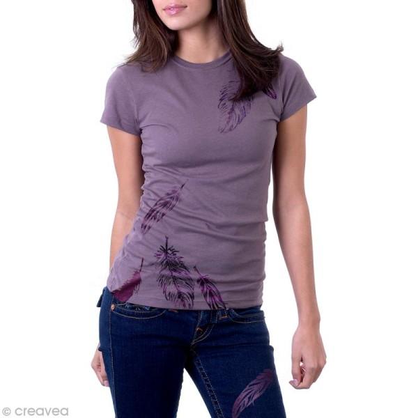 Pochoir textile adhésif My Style Plumes 21 x 14,8 cm - Photo n°4