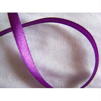 Ruban satin simple face, violet foncé