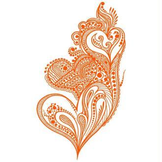Pochoir pour tissu adhésif My Style Coeurs 29,7 x 42 cm