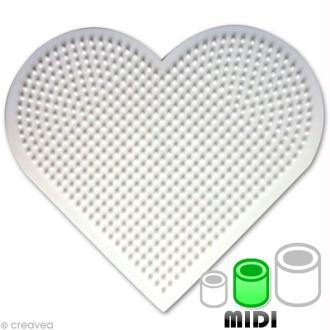 Plaque pour perles Hama Midi - Coeur grand modèle