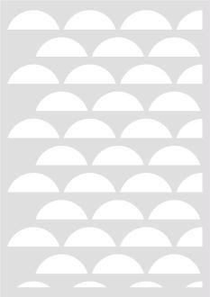 Pochoir Géométrique Demi cercles 29,7 x 42 cm - Stencil Scandinave - Stencil Géométrique - 15060026