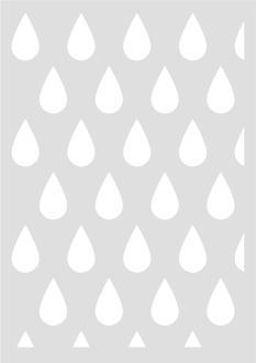 Pochoir Géométrique Gouttes 29,7 x 42 cm - Stencil Scandinave - Stencil Géométrique - 15060027