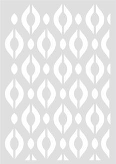 Pochoir Géométrique Losanges 29,7 x 42 cm - Stencil Géométrique - 15060028