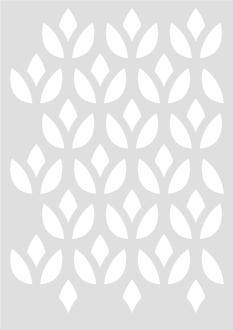 Pochoir Géométrique Lotus 29,7 x 42 cm - Stencil Géométrique - Stencil Scandinave - 15060029