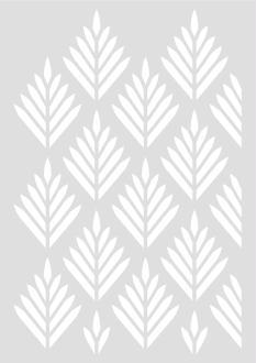 Pochoir Géométrique Feuillage  29,7 x 42 cm - Stencil Géométrique - Stencil Feuilles  - 15060030