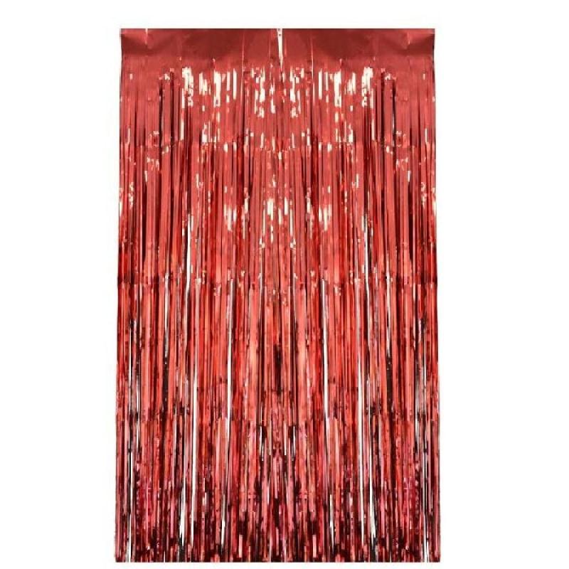rideau lamelles rouges x m d coration. Black Bedroom Furniture Sets. Home Design Ideas