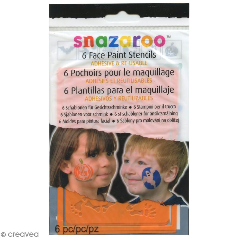 Pochoir maquillage adhésif Snazaroo - Halloween - Photo n°1