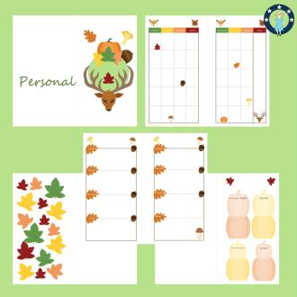 Kit pages à imprimer Forêt pour planner personal non datés français