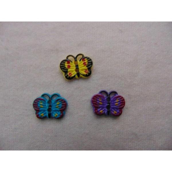 Bouton enfant, papillon - Photo n°1