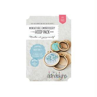 Pack 4 Mini-Cercles à broder Ronds Bois 4cm et 5.5cm  - Dandelyne