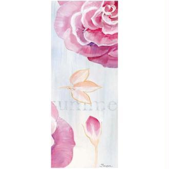Image 3D Fleur - 3 roses fond bleu pastel 20 x 50 cm