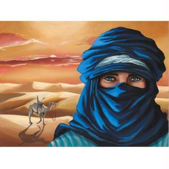 Image 3D Homme - Touareg 30 x 40 cm