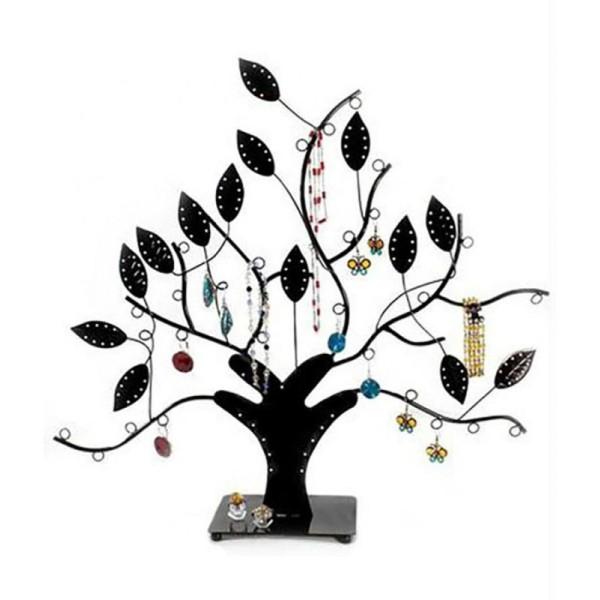Porte bijoux arbre à boucle d'oreille et bijoux designNoir - Photo n°1
