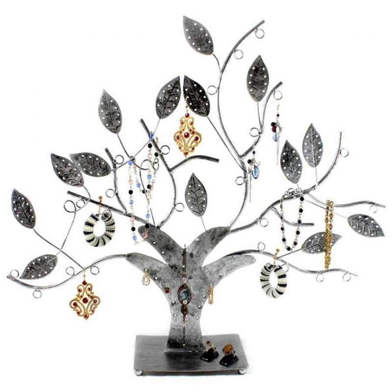 porte bijoux arbre boucle d 39 oreille et bijoux design gris patin pr sentoir boucles d. Black Bedroom Furniture Sets. Home Design Ideas