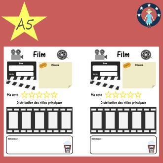 Pages à imprimer suivi de films pour planner A5 français