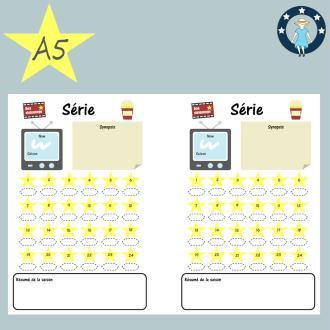Pages à imprimer suivi de séries pour planner A5 français
