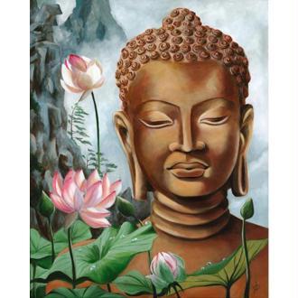 Image 3D Homme - Bouddha 40 x 50 cm