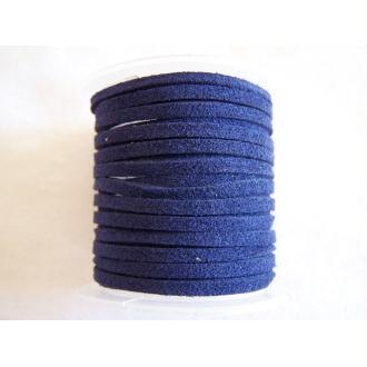 Lacet daim bleu marine