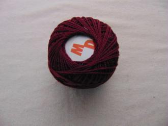 Coton perlé, cerise noire
