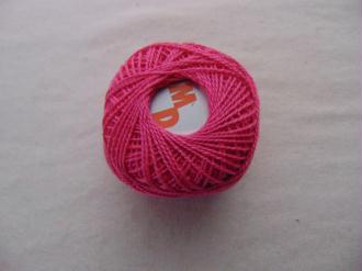 Coton perlé, fuchsia
