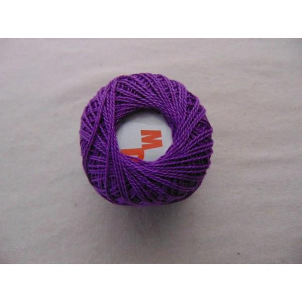 Coton perlé, lilas foncé - Photo n°1