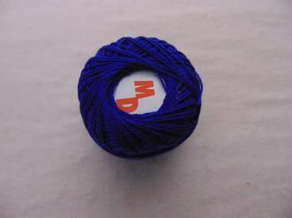 Coton perlé, bleu roy