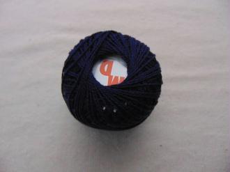 Coton perlé, bleu marine