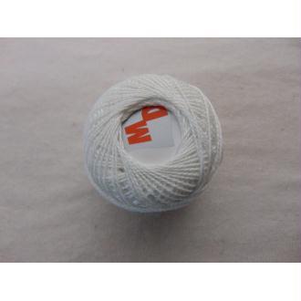 Coton perlé, blanc