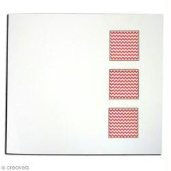 Classeur photo à décorer 30,5 x 31,5 cm blanc