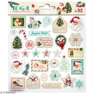 Stickers 3D epoxy - Dear Santa - 32 pcs