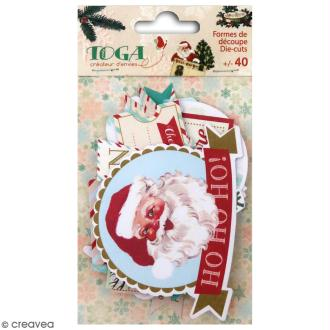 Die cut Toga Messages - Dear Santa - 40 pcs