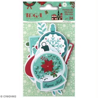 Die cut Toga Etiquettes - Joyeux Noël - 24 pcs