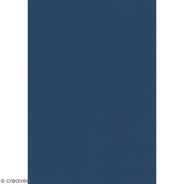Daily like uni Bleu outremer - Tissu autocollant A4 - Photo n°1
