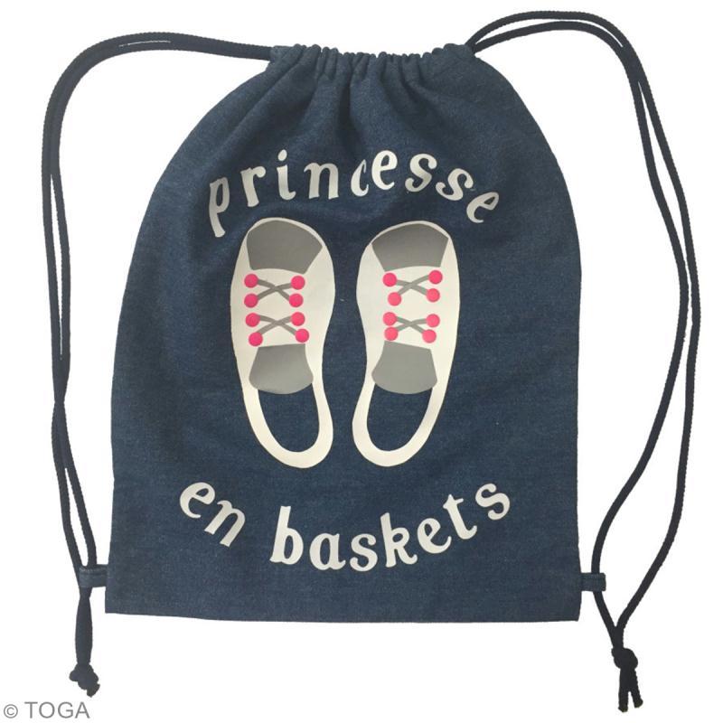 Kit sac d'activités à décorer 26 x 35 - Bleu jean - Photo n°3