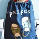 Kit sac d'activités à décorer 26 x 35 - Bleu jean - Photo n°2