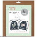 Kit sac d'activités à décorer 26 x 35 - Bleu jean - Photo n°1