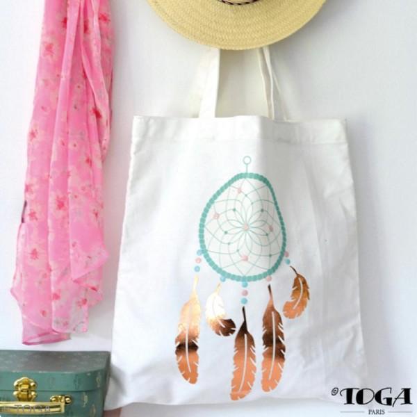 Kit Tote bag à décorer 38 x 40 - Blanc - Photo n°2
