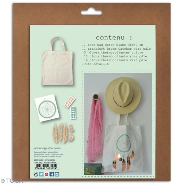 Kit Tote bag à décorer 38 x 40 - Blanc - Photo n°3