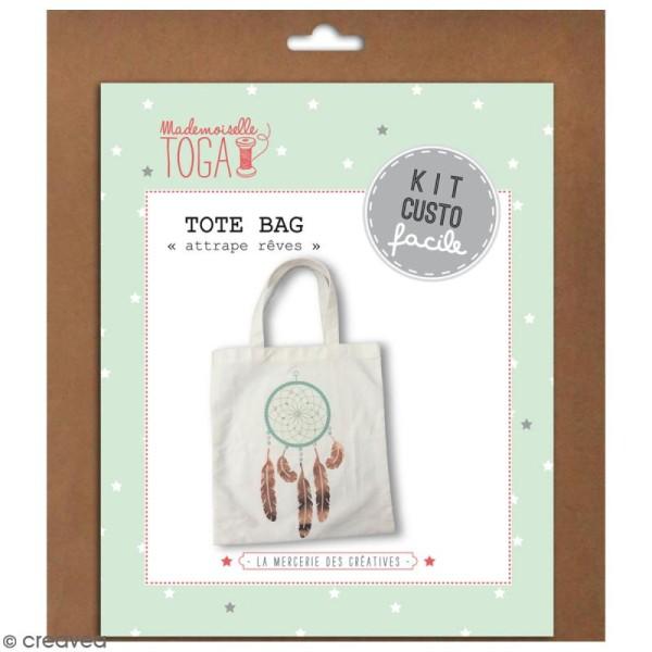 Kit Tote bag à décorer 38 x 40 - Blanc - Photo n°1