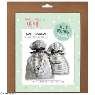 Kit couture - sac cadeau 50 x 35 - Blanc et beige