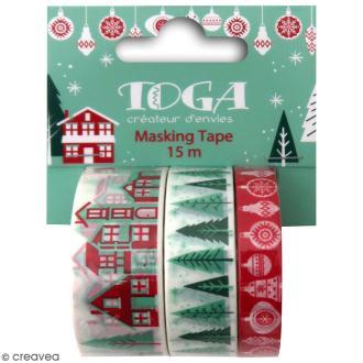 Masking tape Toga - Joyeux Noël - 3 rouleaux