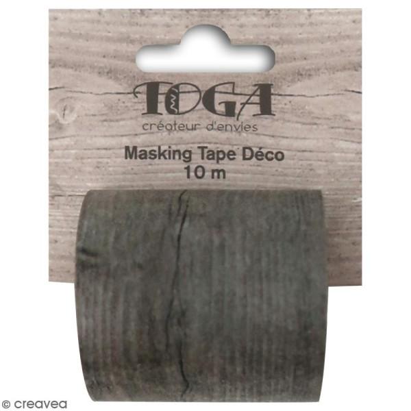 Masking tape large Toga - Bois foncé - 5 cm x 10 m - Photo n°1