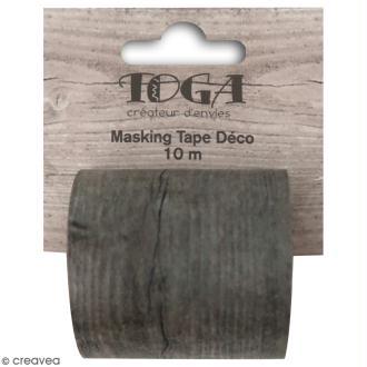 Masking tape large Toga - Bois foncé - 5 cm x 10 m