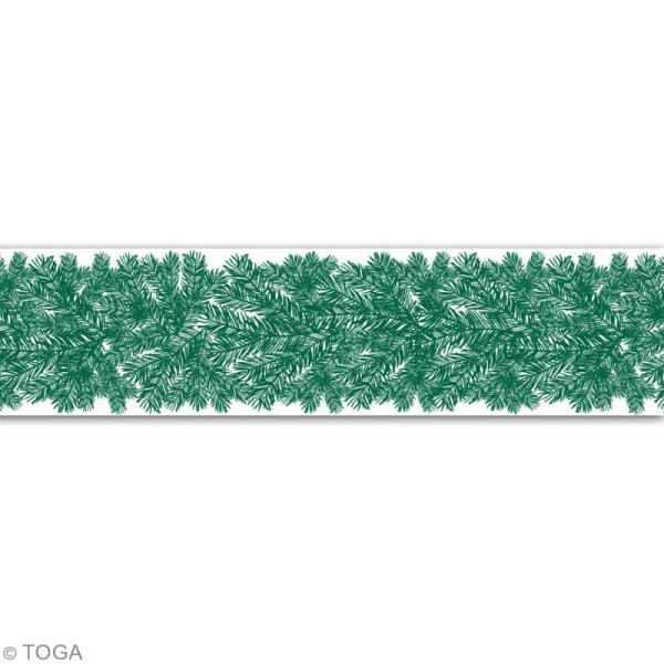 Masking Tape Large Toga - Branche de sapin - 5 cm x 10 m - Photo n°3