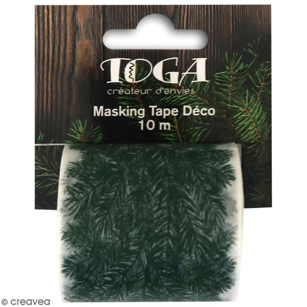 Masking Tape Large Toga - Branche de sapin - 5 cm x 10 m - Photo n°1