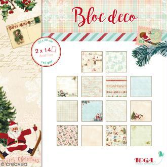 Bloc Déco Toga - Dear Santa - 20 x 20 cm - 28 feuilles