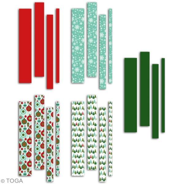 Bandes de papier quilling - Joyeux Noël - 4 tailles -100 pcs - Photo n°2